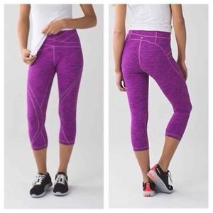 Lululemon Free Flow Like New Magenta Leggings | 4